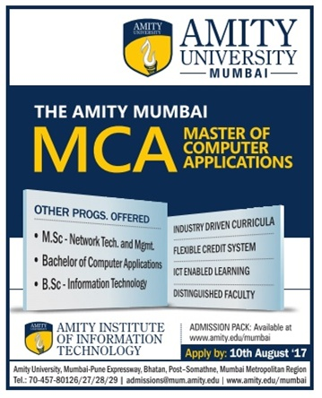 Admission open At Amity University for MCA