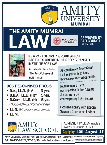 Admission open at Amity University for LAW