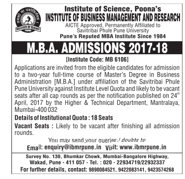 Admission open at Institute of Business Management and Research