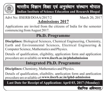 Indian Institute of Science Education and Research, Bhopal