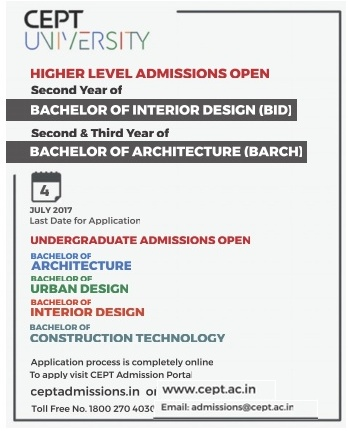 Center for Environmental Planning and Technology (CEPT) Admission for BIE & BARCH