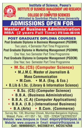 INSTITUTE OF BUSINESS MANAGEMENT & RESEARCH Admission for UG/PG