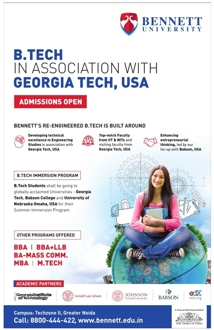 Bennett University Admission for UG/PG