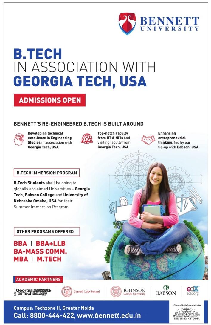 Bennett University Admission for UG/PG