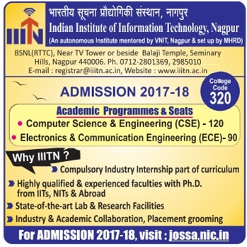 INDIAN INSTITUTE OF INFORMATION TECHNOLOGY NAGPUR (IIITN) Admission for Engineering