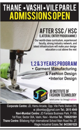 Admission open at JD Institute of Fashion Technology