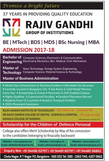 Admission open at Raiv Gandhi Group of Institute