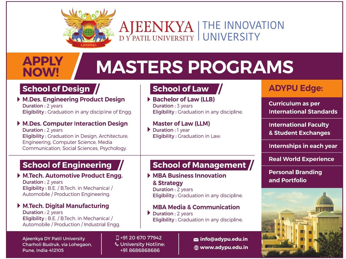 Admission open DY Patil University,Pune