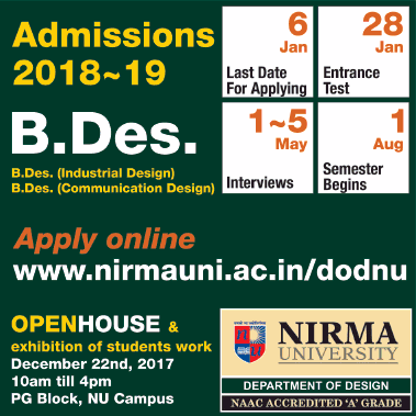 Nirma University admission for B.Des