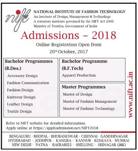 Admission at NIFT