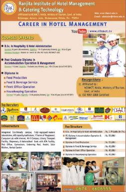 Ranjita Institute of Hotel Management & Catering Technology admission for Hotel Mang