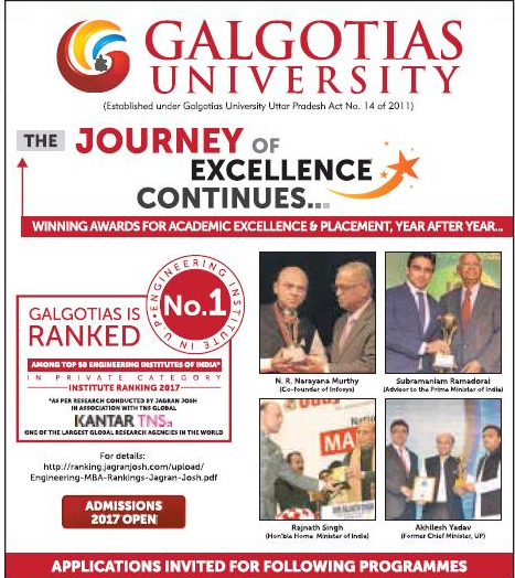 Galgotias University Admission for UG/PG