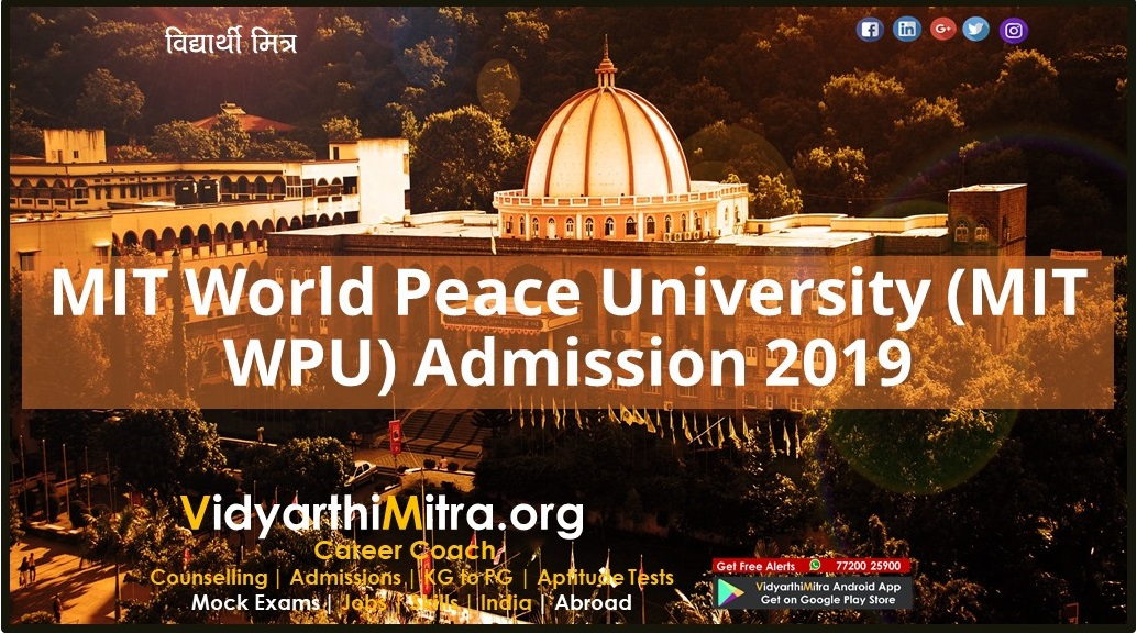 MIT World Peace University (MIT WPU) Admission 2019