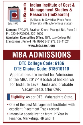 Admission for MBA at indsearch