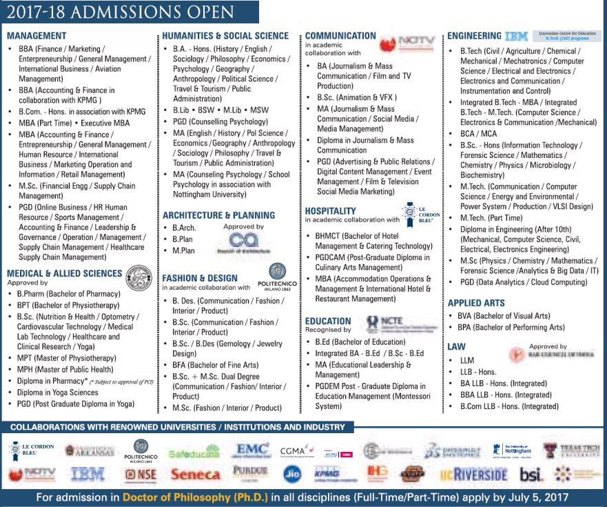 GD GOENKA UNIVERSITY ADMISSION FOR UG/PG COURSES