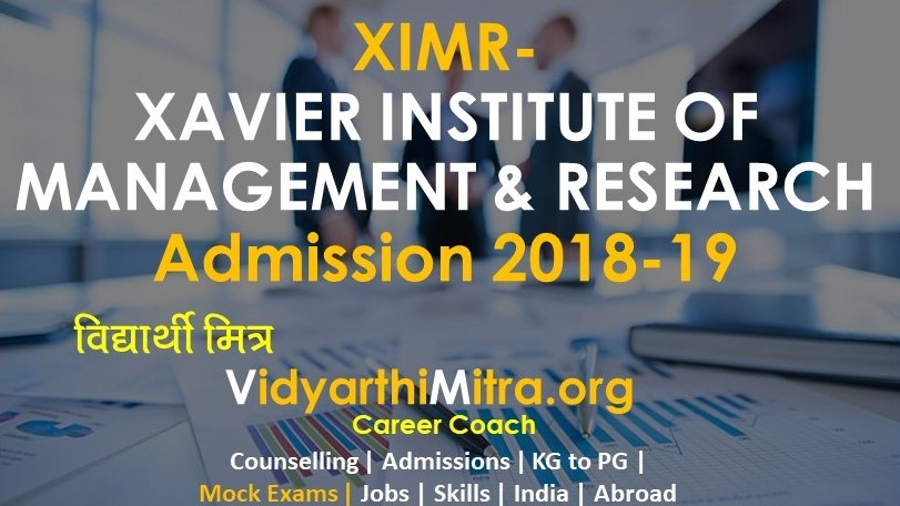 Xavier Institute of Management & Research Admission 2018-19