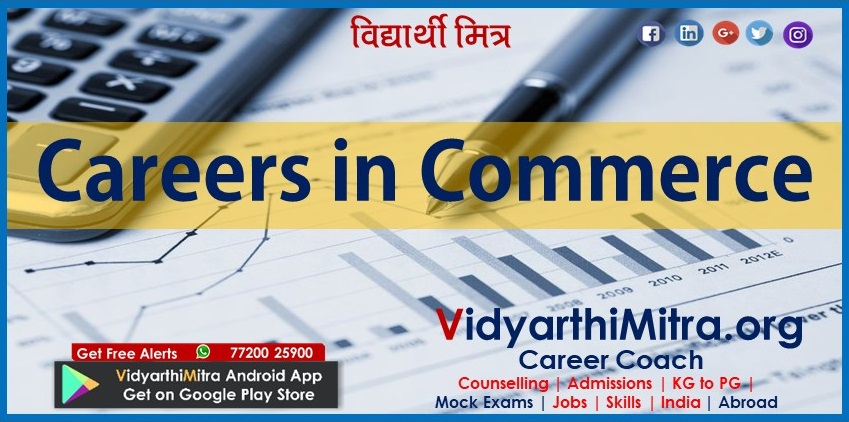 Courses and Career Options after class 12th Commerce Stream
