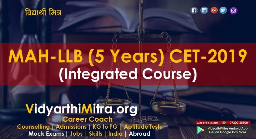 MAH-LLB (5 Years) CET-2019 (Integrated Course)