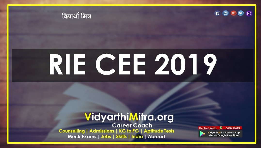 The National Council of Educational Research and Training CEE 2019