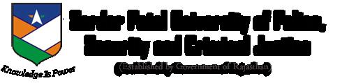 SARDAR PATEL UNIVERSITY OF POLICE SECURITY AND CRIMINAL JUSTICE 2019