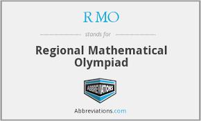 Regional Mathematics Olympiad