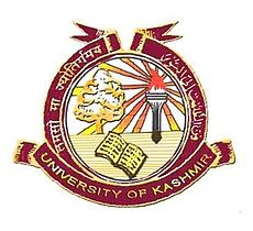 UNIVERSITY OF KASHMIR, SRINAGAR